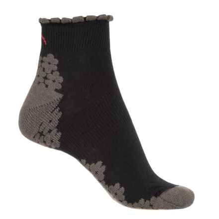 Eurosock CoolMax® Run Socks - Below the Ankle (For Women) in Black - Closeouts
