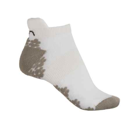 Eurosock Cushee Tennis Socks - Below the Ankle (For Women) in White/Grey - Closeouts