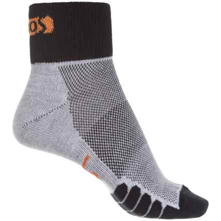 Eurosock Cycle Cool Socks - Quarter Crew (For Men and Women) in Black - Closeouts