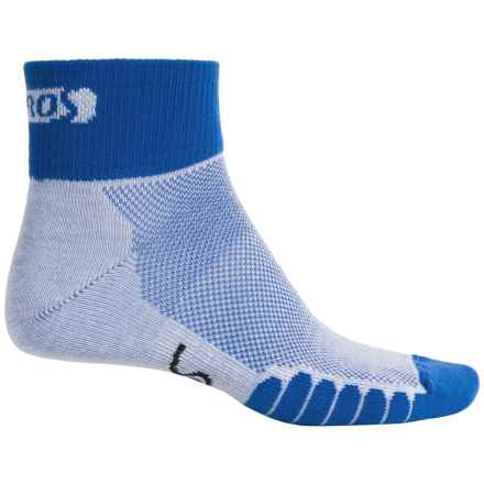 Eurosock Cycle Cool Socks - Quarter Crew (For Men and Women) in Royal - Closeouts