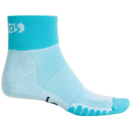 Eurosock Cycle Cool Socks - Quarter Crew (For Men and Women) in Turquoise - Closeouts