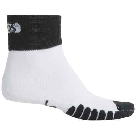 Eurosock Cycle Cool Socks - Quarter Crew (For Men and Women) in White - Closeouts