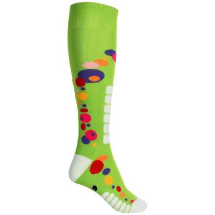 Eurosock Free Style Silver Ski Socks - Over the Calf (For Women) in Lime - Closeouts