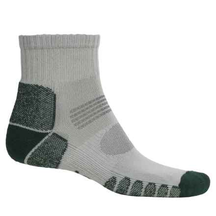 Eurosock Hiking Socks - Crew (For Men and Women) in Silver/Forest - Closeouts