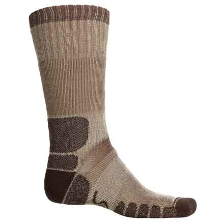 Eurosock Midweight Trekking/Hiking Outdoor Boot Socks - Mid Calf (For Men and Women) in Beige - Closeouts
