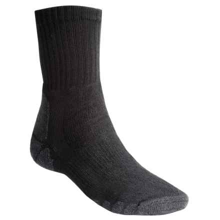 Eurosock Outdoor Crew Socks (For Men and Women) in Black - Closeouts