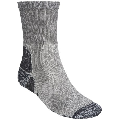Eurosock Outdoor Crew Socks (For Men and Women) in Grey