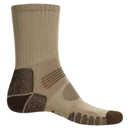 Eurosock Path Hiker Socks - Crew (For Men and Women) in Beige/Brown - Closeouts