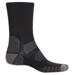 Eurosock Path Hiker Socks - Crew (For Men and Women) in Black/Grey