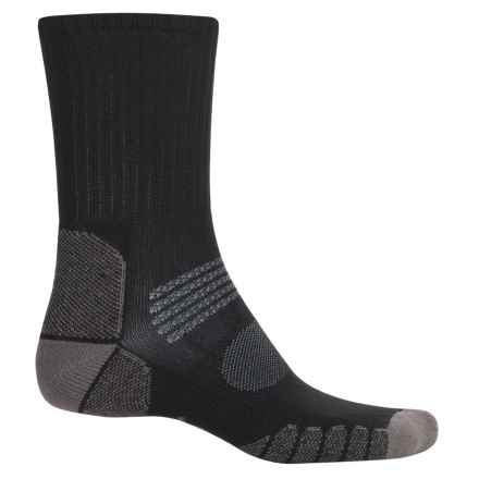Eurosock Path Hiker Socks - Crew (For Men and Women) in Black/Grey - Closeouts