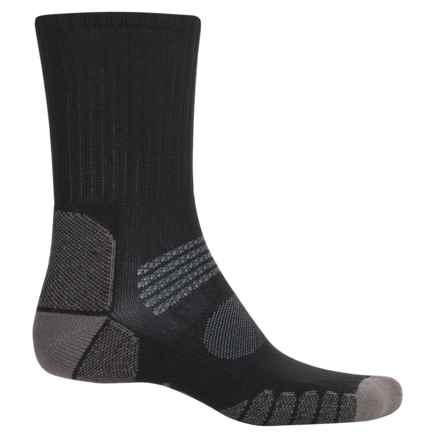Eurosock Path Hiker Socks - Crew (For Men and Women) in Black/Grey - Closeouts