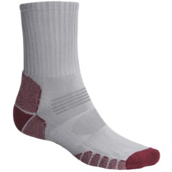 Eurosock Path Hiker Socks - Crew (For Men and Women) in Silver/Brown