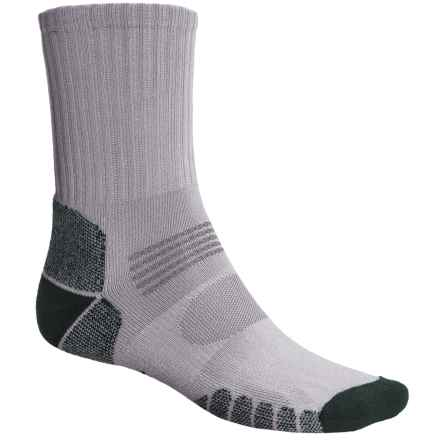 Eurosock Path Hiker Socks - Crew (For Men and Women) in Silver/Forest - Closeouts