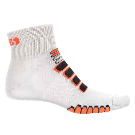 Eurosock Silver Cycling Socks - Ankle (For Men and Women) in Grey/Orange - Closeouts
