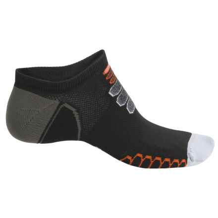 Eurosock Silver Ultralight Ghost Socks - Below the Ankle (For Men and Women) in Black/White - Closeouts