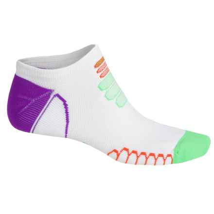 Eurosock Silver Ultralight Ghost Socks - Below the Ankle (For Men and Women) in White/Green - Closeouts