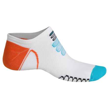 Eurosock Silver Ultralight Ghost Socks - Below the Ankle (For Men and Women) in White/Turquoise - Closeouts