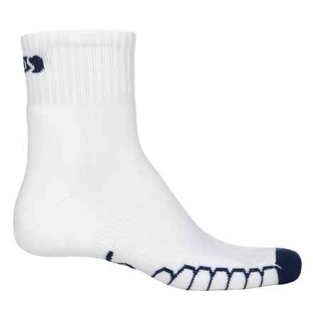 Eurosock Slam SILVER DryStat® Socks - Quarter Crew (For Men and Women) in White/Navy - Closeouts