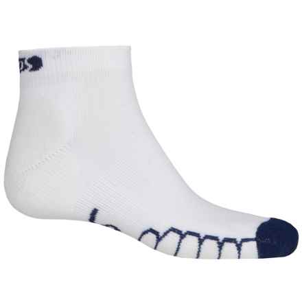 Eurosock Slam Silver Ped Socks - Ankle (For Men and Women) in White/Navy - Closeouts