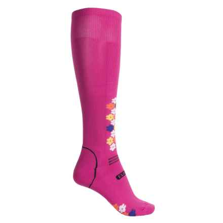Eurosock Snowdrop Silver Ski Socks - Over the Calf (For Women) in Fuchsia - Closeouts