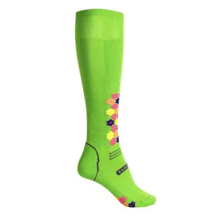 Eurosock Snowdrop Silver Ski Socks - Over the Calf (For Women) in Lime - Closeouts