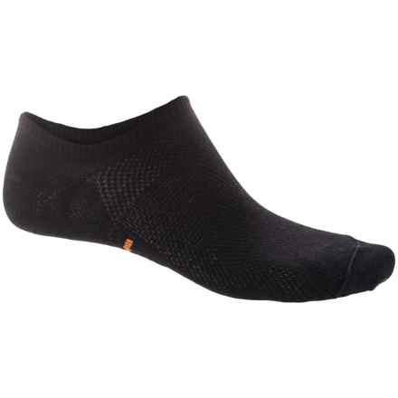 Eurosock Sprint CoolMax® Ultralight Ghost Socks - Below the Ankle (For Men and Women) in Black - Closeouts