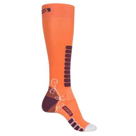 Eurosock Sweet Silver Ski Socks - Over the Calf (Women) in Saffron - Closeouts
