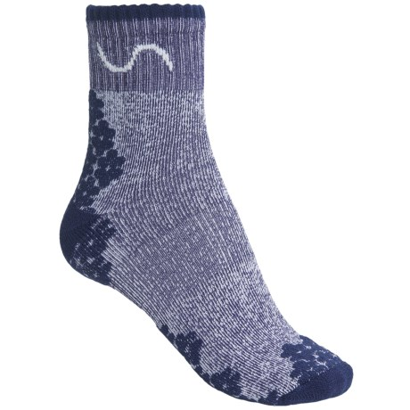 Eurosock Walk-Hike Socks - CoolMax®, Crew (For Men and Women) in Light Blue