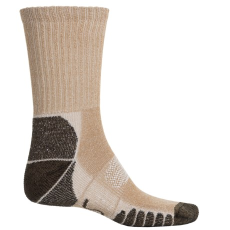 Eurosock Walking and Camping Socks - Crew (For Men and Women) in Beige