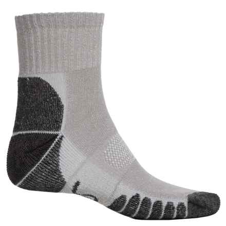 Eurosock Walking and Camping Socks - Quarter Crew (For Men and Women) in Grey - Closeouts