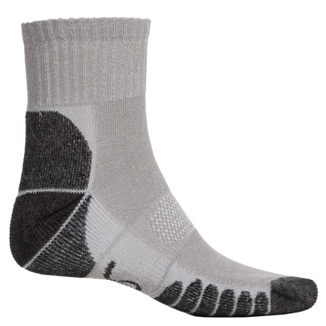 Eurosock Walking and Camping Socks - Quarter Crew (For Men and Women) in Grey