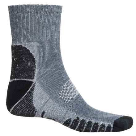 Eurosock Walking and Camping Socks - Quarter Crew (For Men and Women) in Navy - Closeouts