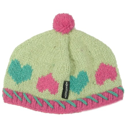 aa185ce5 Everest Designs Hearts Beanie - Wool (For Kids) in Green