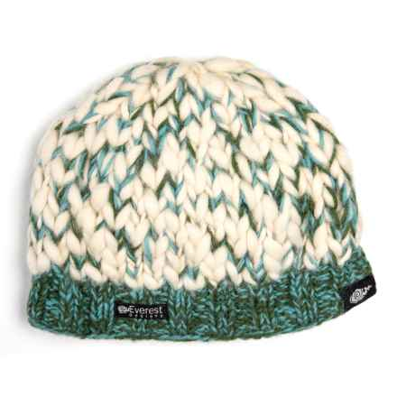 Everest Designs Powderhound Beanie - Wool (For Kids) in Green - Closeouts 8c2ab09fafd2