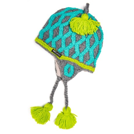 b918ff2267b Everest Designs Sumika Ear Flap Hat - Wool (For Kids) in Sea Glass