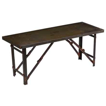Evergreen Antique Finish Garden Bench in Brown - Closeouts