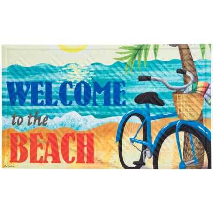 """Evergreen Embossed Doormat - 18x30"""" in Beach Bike - Closeouts"""