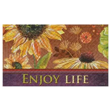 """Evergreen Embossed Doormat - 18x30"""" in Enjoy Life - Closeouts"""