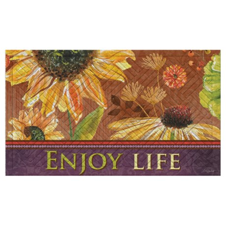 "Evergreen Embossed Doormat - 18x30"" in Enjoy Life"
