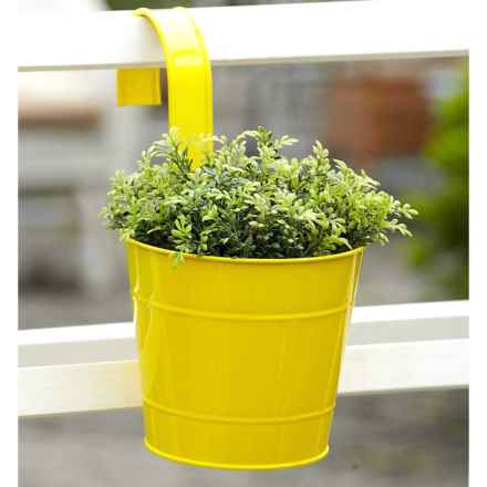 Evergreen Fence Post Planter with Hook in Yellow - Closeouts