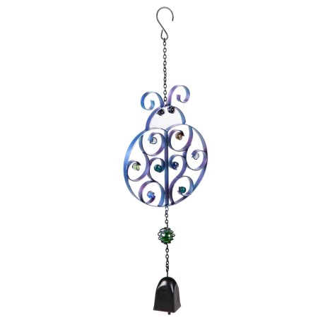 Evergreen Ladybug Bell Wind Chime in Multi