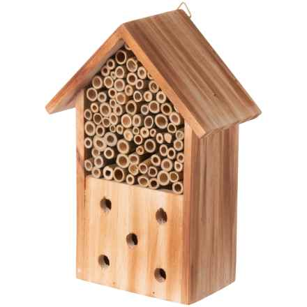 Evergreen Log Cabin Bee House in Natural - Closeouts