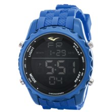 Everlast Digital Sport Watch - Rubber Strap (For Men) in Blue/Blue - Closeouts