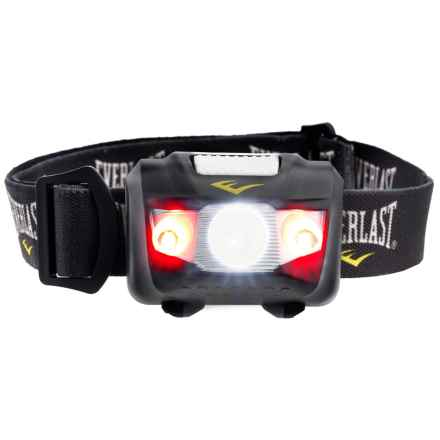Everlast LED Headlamp and Batteries - Adjustable Strap in Black - Closeouts