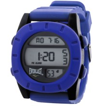 Everlast SQ Soft Touch Digital Sports Watch (For Men) in Blue/Blue - Closeouts