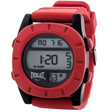 Everlast SQ Soft Touch Digital Sports Watch (For Men) in Red/Red - Closeouts