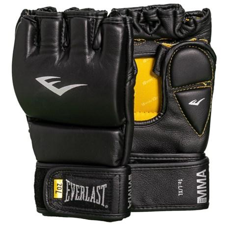Everlast Te:7 Elite Grappling Training Gloves - Leather, 7 oz. in Black