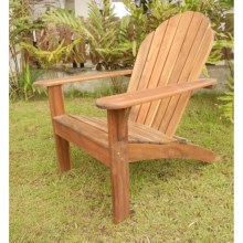Everlasting Acacia Adirondack Chair - Wood in Natural - Closeouts