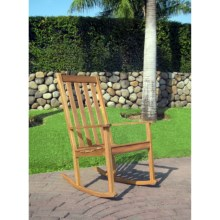 Everlasting Acacia Rocking Chair - Wood in Natural - Closeouts
