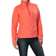 Everyday Fleece Jacket - Zip Neck (For Women) in Salmon Print - 2nds
